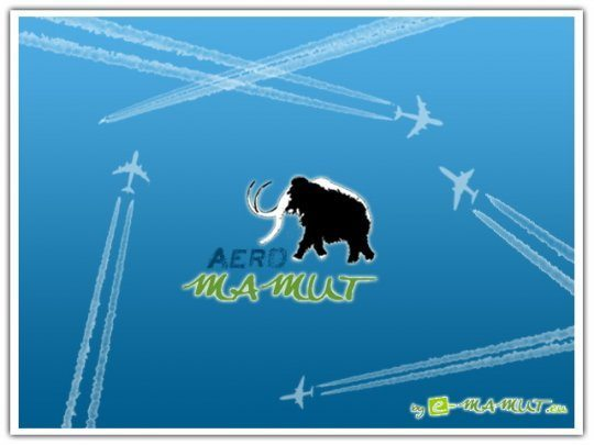 Pohľadnica aero mamut  -