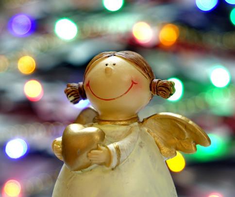 Pohľadnica anjelik srdiecko  -