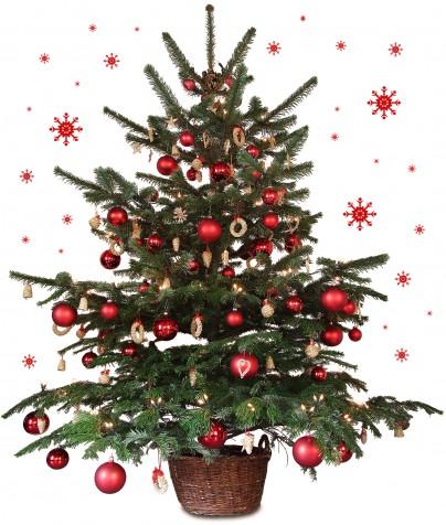Pohľadnica cerveny vianocny stromcek  -