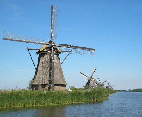 Pohľadnica cestovanie europa holandsko veterne mlyny  -