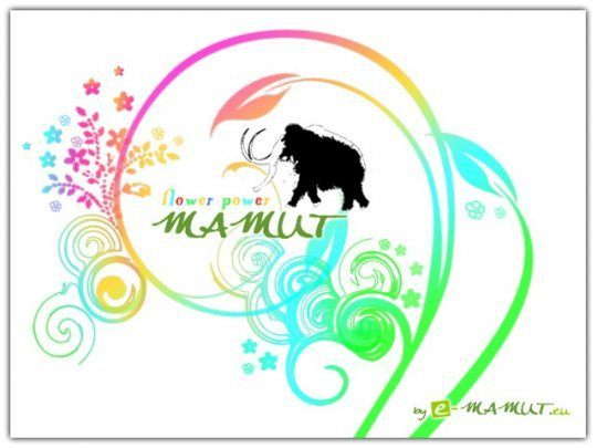 Pohlednice flower power mamut  -
