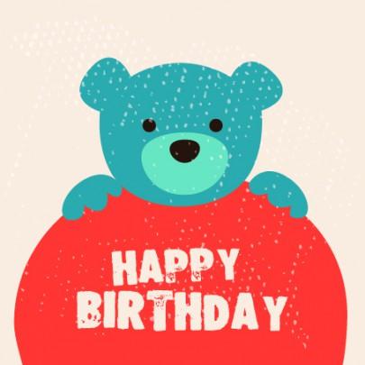 Pohľadnica gratuľujem všetko najlepšie k narodeninám happy birthday teddy  -