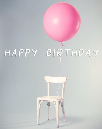 Pohľadnica happy birthday balloon  -