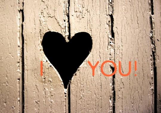 Pohľadnica i love you  -