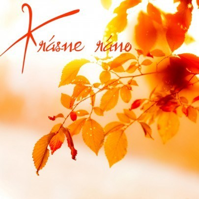 Pohľadnica krasne rano jesen slnko pozdrav  -