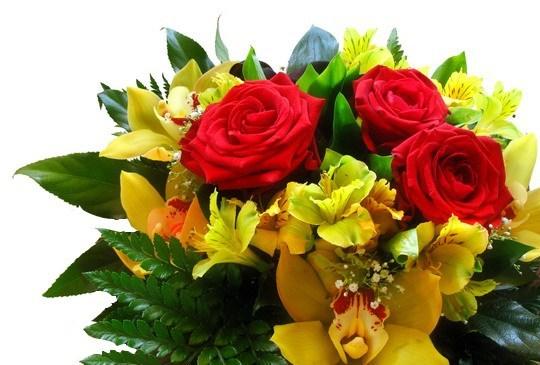Pohľadnica kvety kytica  -