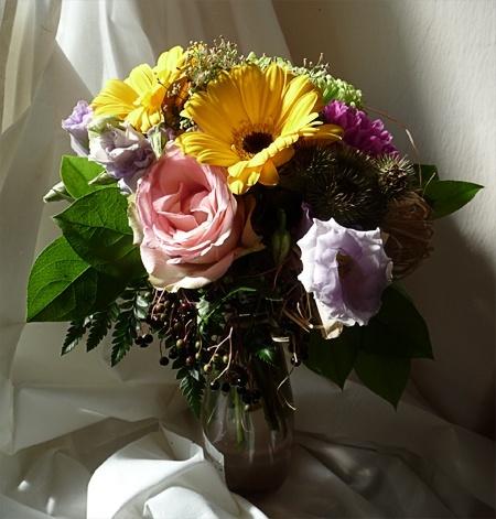 Pohľadnica kytica blahozelanie gratulacia k meninám k narodeninám venovanie  -