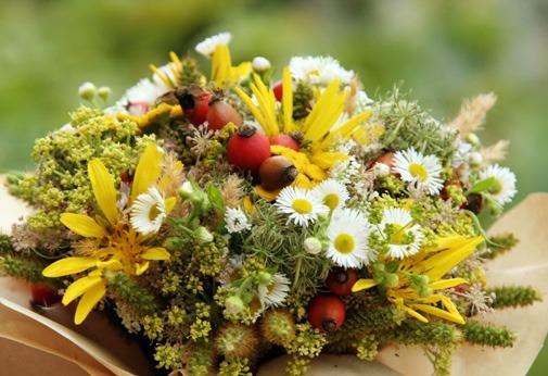 Pohľadnica lucne kvety kytica leto  -