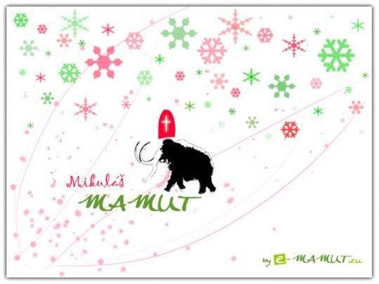 Pohľadnica Mikuláš mamut  -