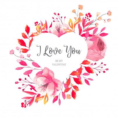 Pohľadnica nezne srdiecko Valentín  -