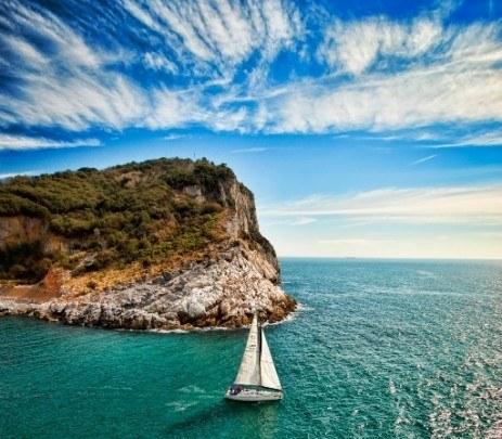 Pohľadnica plachetnica more leto sloboda  -