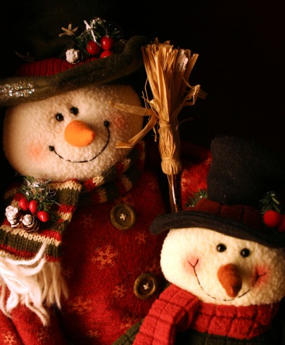 Pohľadnica snehuliaci kamarati  -