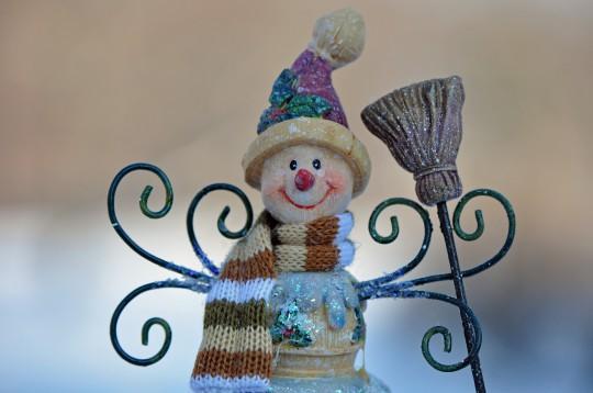 Pohľadnica snehuliacik zima  -