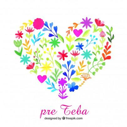 Pohľadnica srdce z lásky pre teba  -