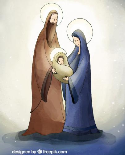 Pohľadnica svata rodina Vianoce  -