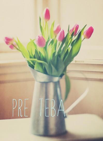 Pohľadnica tulipany nostalgicka kyticka  -
