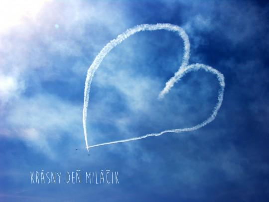 Pohľadnica Valentín z lásky srdiecko 2  -