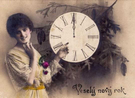 Pohľadnica veselý Nový rok  -