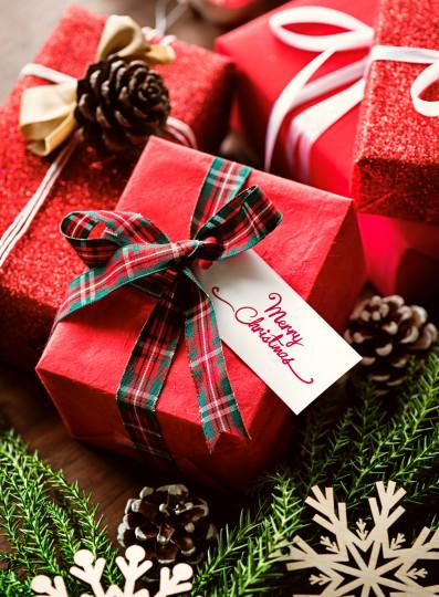 Pohľadnica Vianoce darceky  -