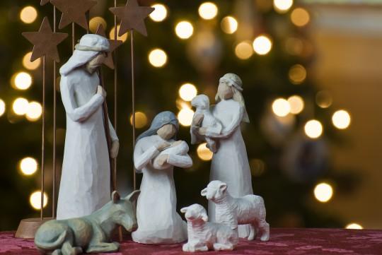 Pohľadnica Vianoce jaslicky Betlehem  -