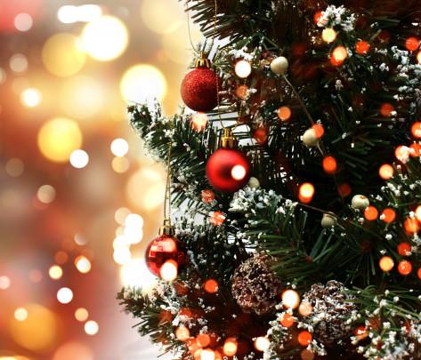 Pohľadnica Vianoce stromcek svetielka  -