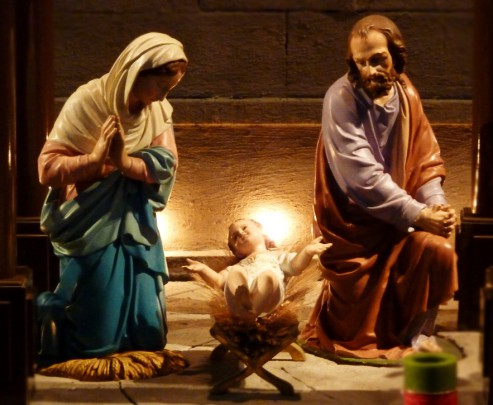 Pohľadnica Vianoce svata rodina  -