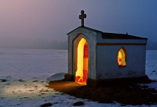 Pohľadnica Vianočná kaplnka  -