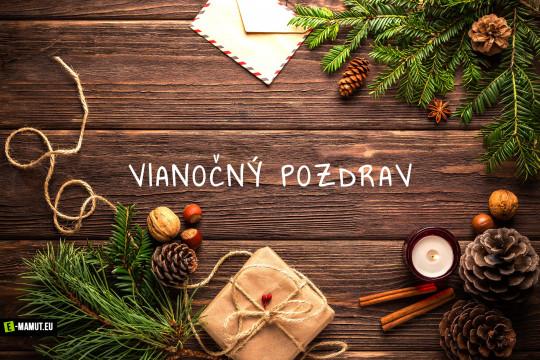 Pohľadnica vianocny pozdrav 1  -