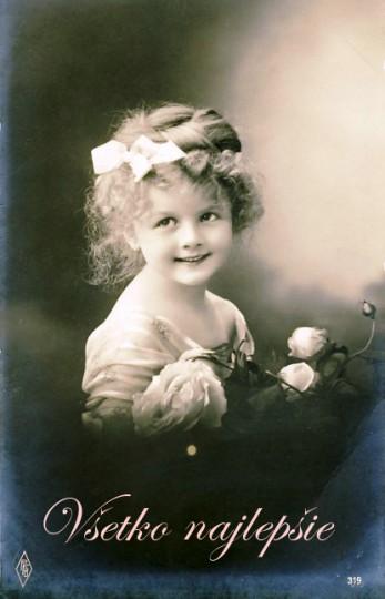 Pohľadnica všetko najlepšie k narodeninám meninám retro vintage 042  -