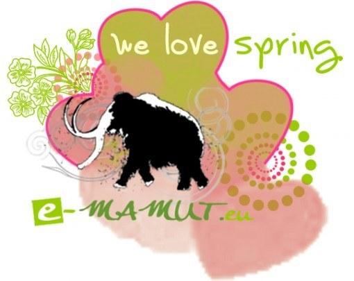 Pohľadnica we love spring mamut  -