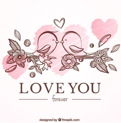 Pohľadnica z lásky vtacatka   -
